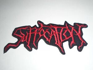 SUFFOCATION DEATH METAL IRON ON EMBROIDERED PATCH
