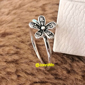 NEW 100% Authentic 925 Sterling Silver Dazzling Daisy Clear CZ Ring Size 6 7 8 9