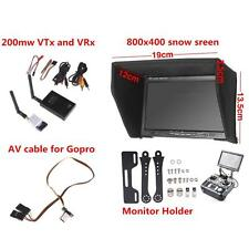 FPV Combo 5.8G 200mw video Transmitter Receiver 800x480 HD Monitor For RC Drone