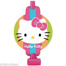HELLO KITTY Rainbow Stripes BLOWOUTS (8) ~ Birthday Party Supplies Paper Favors