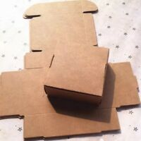 100x Kraft Paper Boxes Cake Soap Candy Gift Wedding Birthday Favour  3.7x3.7x2cm
