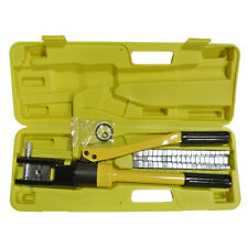 16 Ton Hydraulic Wire Battery Cable Terminal Crimper Crimping Tool 11 Dies Set