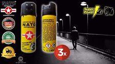 3 cans STÜCK original NATO pepper spray 50mL Made in Germany self defense