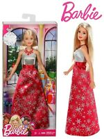 Holiday Season Barbie in Snowflake Red Dress - Girls Dolls 3+