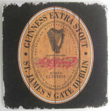 GUINNESS EXTRA STOUT Beer COASTER Mat with HARP St. James's Gate, Dublin IRELAND