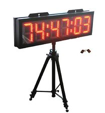 "8"" Large Outdoor Double Sided LED Race Clock Countdown Count Up Sport Timer"