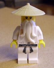 LEGO Ninjago-NINJA-Sensei Wu personaggio BIANCO WHITE maestro samurai minifigs NUOVO