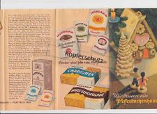 Mondamin Rezept-Faltblatt Wir bauen ein Pfefferkuchenhaus Rezepte Produkte 1930