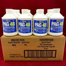 Set of 12: Genuine IDQ Auto Air Conditioning Oil PAG 46 Low Viscosity