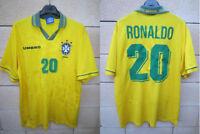 Maillot BRÉSIL BRASIL 1994 RONALDO n°20 UMBRO shirt trikot jersey vintage XL