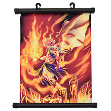 Anime Fairy Tail Poster Wall Hanging Scroll Flame Burning Home Decor Cosplay