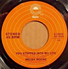 """You Stepped Into My Life by Melba Moore 7"""" single 45rpm (1978 Epic 8-50600)"""