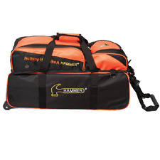 Hammer 3 Ball Tote Bowling Bag with shoe pocket Color Orange/Black  NEW