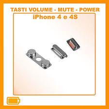 IPHONE 4 e 4S SET TASTI LATERALI VIBRAZIONE ACCENSIONE BLOCCO VOLUME