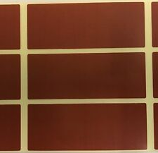 Large - Brown 30 x 78mm Colour Code Rectangles / Labelling / File Stickers