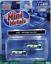 N Scale Classic Metal Works 1950 Dodge Police Cars Limited Run Item #50382