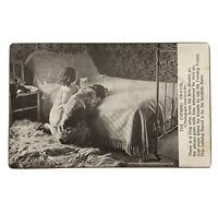 Vintage Postcard 1902 Evening Prayer LIttle Girl Dog Praying Together Unposted