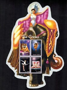 MODERN GEMS - Sierra Leone - The Circus - Sheet of 4 Stamps - MNH