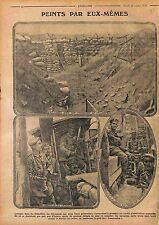 Clichés Photos Feldgrauen Deutsches Heer Tranchées Bataille de l'Artois WWI 1915