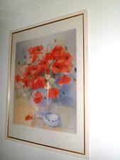 Lithographie composition florale Haydée