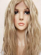 Sandy Mousey Caramel Ash Blonde Real Human Hair Wig Lace Front curly
