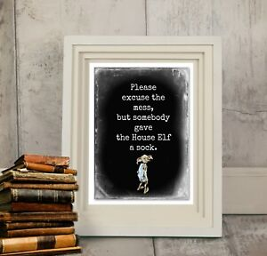 Harry Potter Dobby the House Elf Wall Art Sign - A4