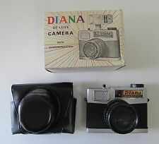 Diana Camera De Luxe Vintage Medium Format 120 Film Camera With Box and Case