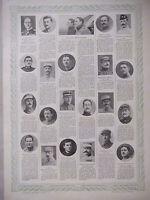 TABLEAU D'HONNEUR 4 PLANCHES N°197 au N°200 DES VICTIMES DE GUERRE 1914/1918