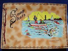 Antique Snapshots Photo Album Galveston Texas Colorful Fisherman Boat Lighthouse