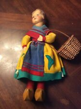 """German Celluloid 1937 Dutch Girl 14"""" Great Condition Antique Doll Collectible"""