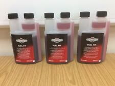 3 x GENUINE BRIGGS & STRATTON PETROL STABILIZER FUEL ADDITIVE 992381 fuel fresh