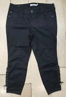 Torrid Women's Black Jeggings Denim Jeans Size 18R Stretch Skinny 3 Buttons