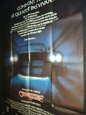CHRISTINE ! john carpenter stephen king   affiche cinema cars plymouth fury