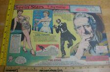 00006000 Lana Turner Paulette Goddard Seein' Stars Feg Murray Sunday 1940s color panel 7j