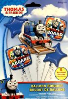 Thomas the Train Birthday Party Favor Supplies 5CT Foil Balloons Bouquet