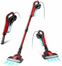 GeeMo 17Kpa Suction Vacuum Cleaner 4 in 1 Stick Vacuum LED Electric Brush Red US