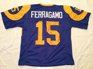 UNSIGNED CUSTOM Sewn Stitched Vince Ferragamo Blue Jersey - M, L, XL, 2XL