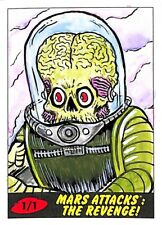 2017 Topps Mars Attacks_The Revenge_Barry Nygma_Sketch Card_Autograph_1/1