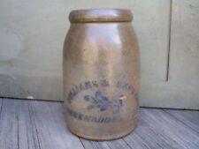"Antique Williams & Reppert Greensboro PA Stoneware Crock Canning Jar 10"""