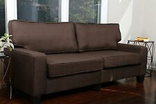 """DARK BROWN Sofa Couch Love Seat College Dorm Apartment Living Room Modern 73"""""""
