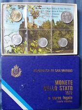 SAN MARINO SERIE DIVISIONALE MONETE 1972  SENZA ARGENTO