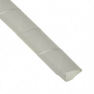 Clear White Spiral Binding Cable Wrap PC TV AV Wire Tidy Lead Management Office