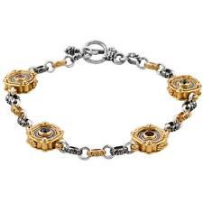 B356 ~ Sterling Silver Medieval-Byzantine Chain Link Bracelet