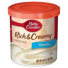 Betty Crocker Rich and Creamy Vanilla Frosting 453g 16oz (2 PACK)