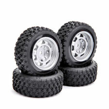 4X Rubber 68mm Rally Tires&Wheel Rim 12mm Hex 11083 For HPI HSP 1:10 RC Car