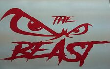 THE BEAST! 150x300mm  WINDSCREEN /PANEL BUMPER STICKER DECAL GRAPHIC VINYL