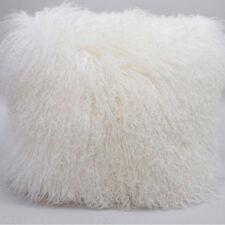 Mongolian Lamb Wool Cushion Cover White Curly Fur Pillowcase 20*20inc High-grade