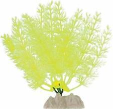"TETRA GLOWFISH GLOW PLANT 5"" SMALL YELLOW ORNAMENT GLO EFFECT. IN USA"