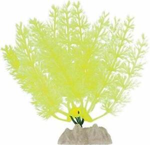 Tetra Glofish Glow Plant 5 Inch Small Yellow Aquarium Ornament Glo Effect Decor