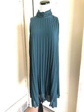 Max Studio Green Pleated Midi Dress Size S